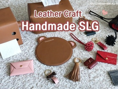 Leather Craft : What I made in beginner's course.Handmade SLG