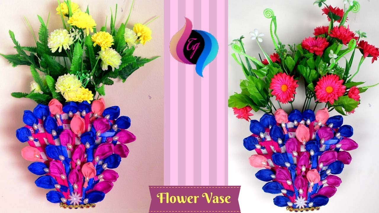 How To Make Flower Vase With Paper At Home Flowers Healthy