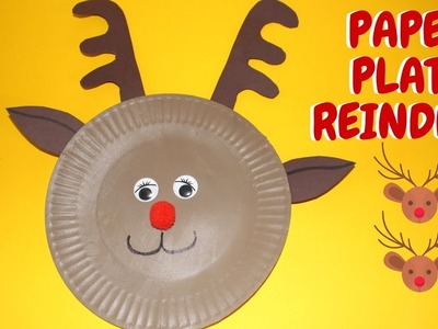 Paper Plate Reindeer | Christmas Ideas | Paper Plate Crafts