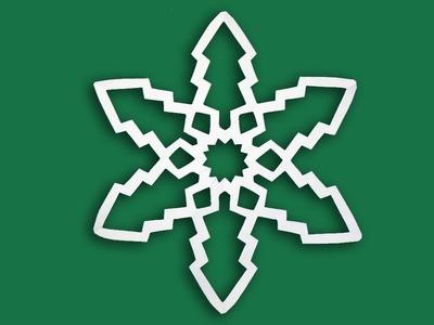 Paper Snowflake Patterns Tutorial Easy - DIY Christmas Craft Snowflakes Making