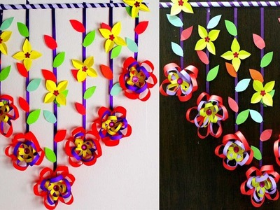 Paper wall hanging crafts - Make wall hangings with paper step by step - Paper wall hanging ideas