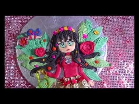 Polymer clay Christmas Doll | Cake Board craft | Christmas  Wall hanging and Present Tutorial