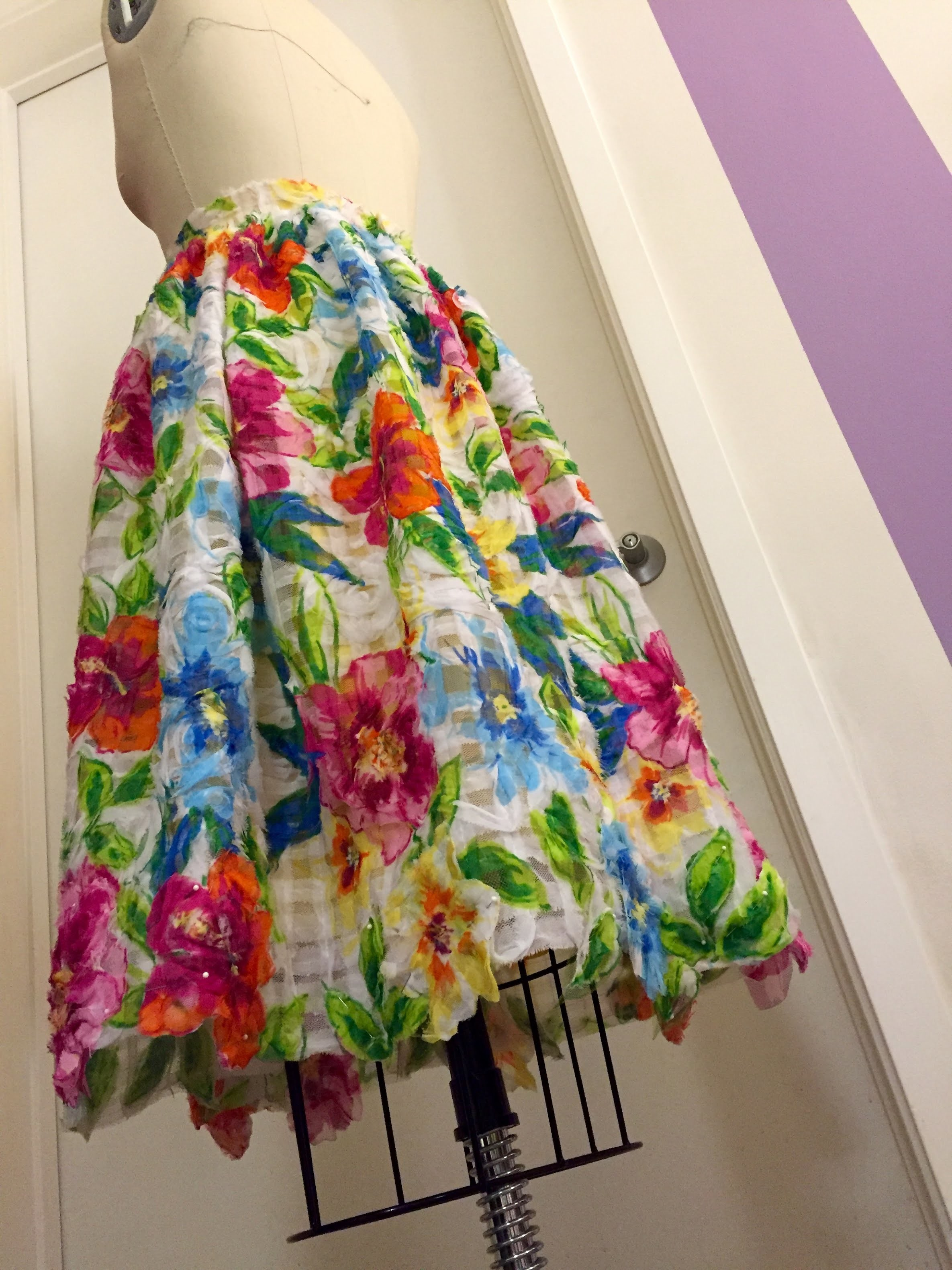 Sewing Project 1: How to make a gathered overskirt!