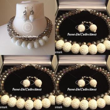 Snow light Necklace set