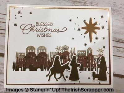 Stampin' Up! Night In Bethlehem Elegant Christmas Card Episode 208