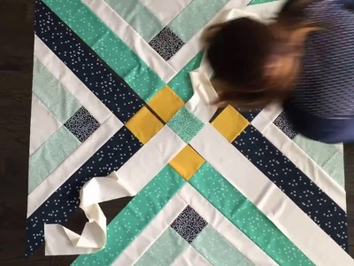 The Retro Plaid Quilt is FUN, FAST, and FREEEE!