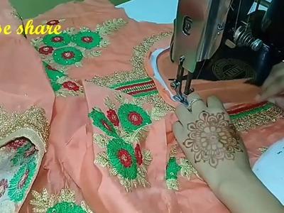 बुक्रम से वर्क वाला गला कैसे बनाए। Give your suit a radymade look,do creative with cut n stitch