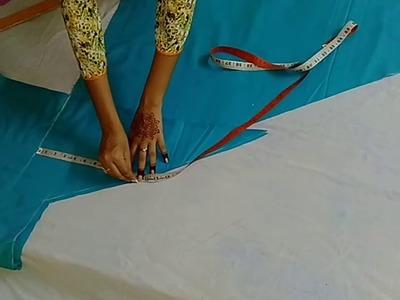 कम कपड़े मे काटे सेमी पटियाला सलवार, how to cut semi patiyala salwar in just 2.25 m of cloth ????