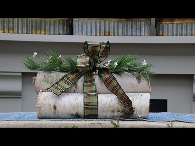 Tonkadale Greenhouse: How to make a birch log decoration
