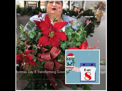 Tricia's Creations: 12 Days of Chritmas Day 8 Transforming Greenery Into Christmas Arrangement