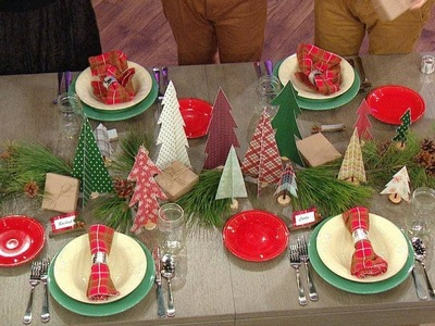2 Crafty Lumberjacks Show You How to Make a Perfect Holiday Tablescape