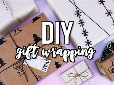 5 DIY Gift Wrapping Ideas! Pinterest Inspired 2017