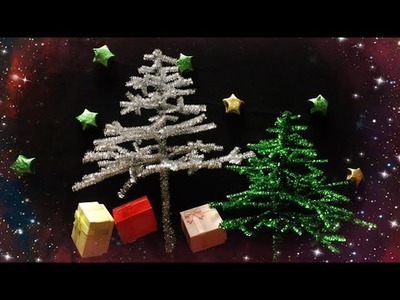 ABC TV | How To Make 3D Christmas Tree From Glitter Pipe Cleaner - Craft Tutorial
