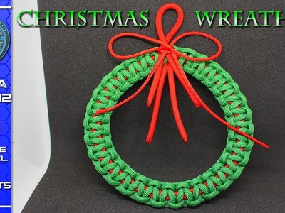 Amazing Christmas Wreath - Must See - How to make Paracord Christmas Wreath Tutorial DIY