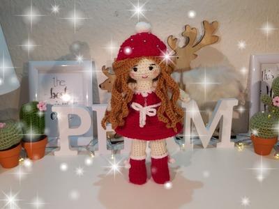 Amigurumi Stand Doll. Dress & Face ( Part 5)