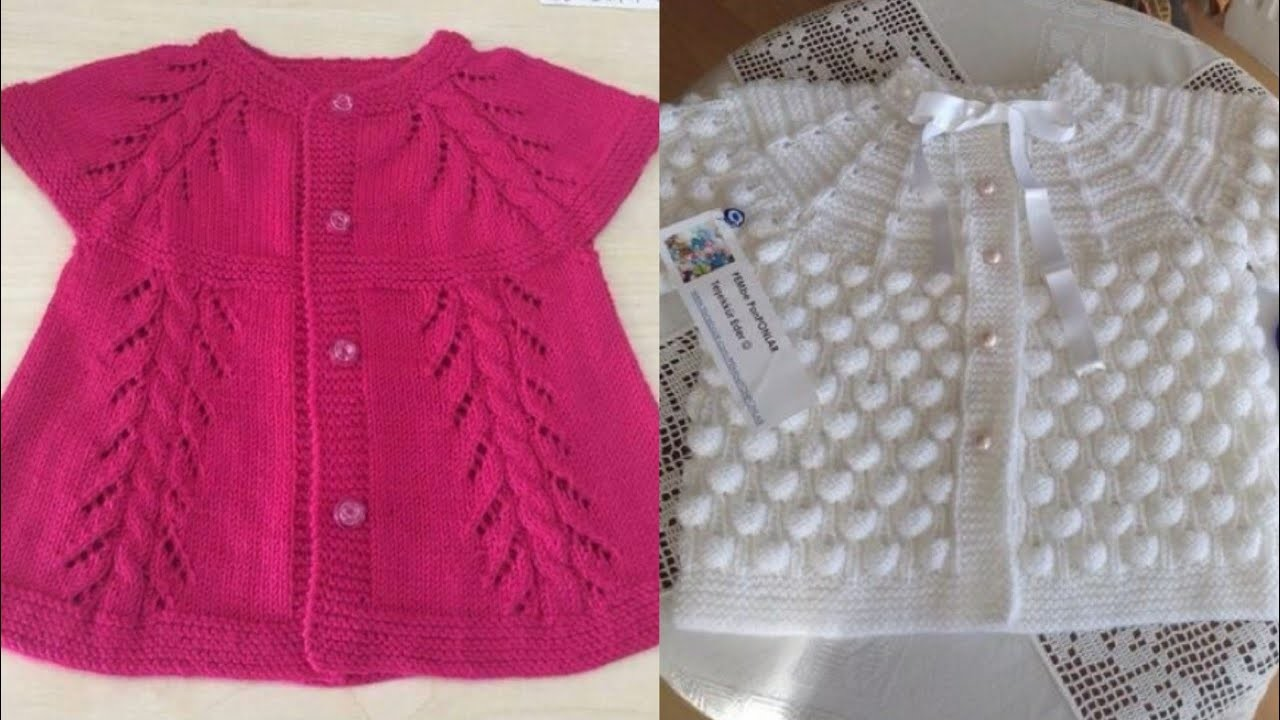 758e5fe62 Crochet baby sweater design ideas.handmade crochet sweater design ideas for  little girls