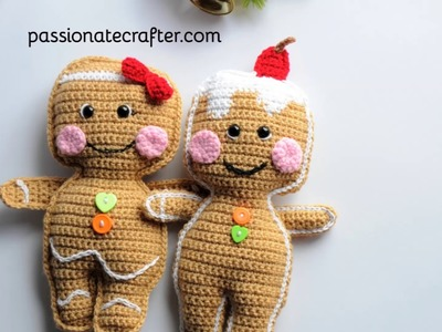 Crochet rag doll Christmas collection