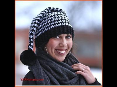 Crochet Tutorial: Houndstooth Stocking Hat