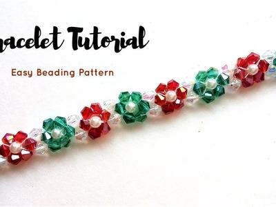 Crystal beads bracelet. Jewelry making tutorial. 10 minutes DIY Bracelet