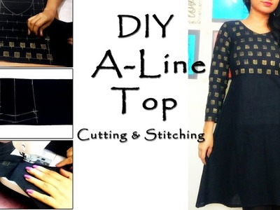 DIY A Line Top Cutting & Stitching | Trendy Tops Patterns