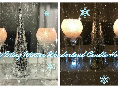 DIY - FROSTY BLING CANDLE HOLDERS 2017