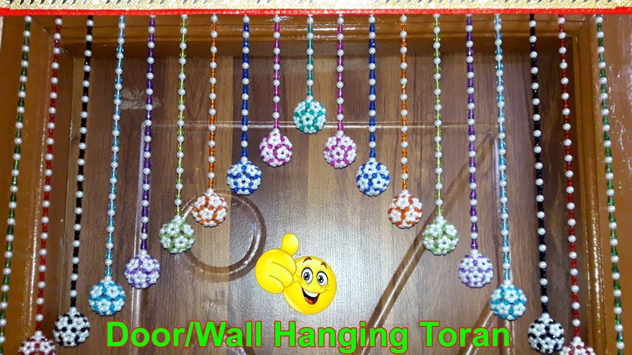 Delicieux DIY,Handmade Toran | How To Make Door Hangings At Home (Beaded Toran) |  Home Decorating Ideas
