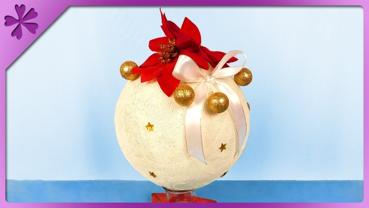 DIY How to make big Christmas ball out of bandage (ENG Subtitles) - Speed up #433