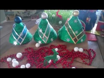 DIY How To Make Christmas Trees using newspapers Tutorial