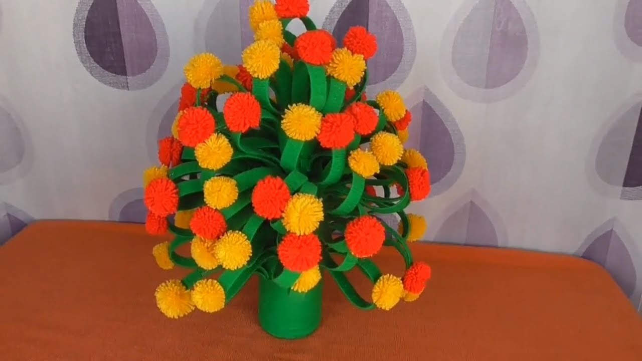 DIY -  HOW TO MAKE FLOWER PLANT FROM X-RAY \\ BEAT USE OF X-RAY AND WOOL\\WOOLEN FLOWER POT