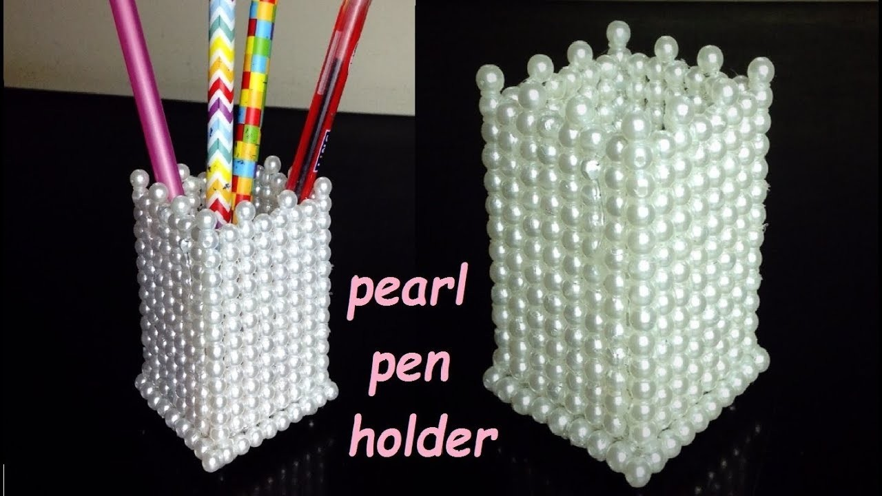 DIY | How to make pearl pen holder | Organization idea |