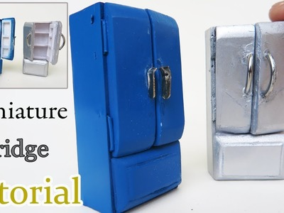 DIY  Miniature Fridge -  Homemade - How to Make Mini Refrigerator for kids