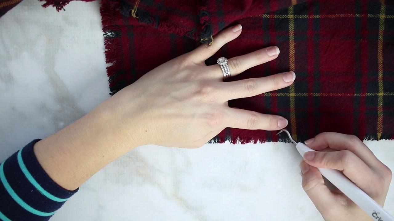 DIY No-Sew Fringed Blanket Scarf Tutorial