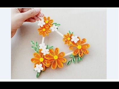 DIY Paper Quilling Wall decoration 11. quilling wall mobile. Quilling flower
