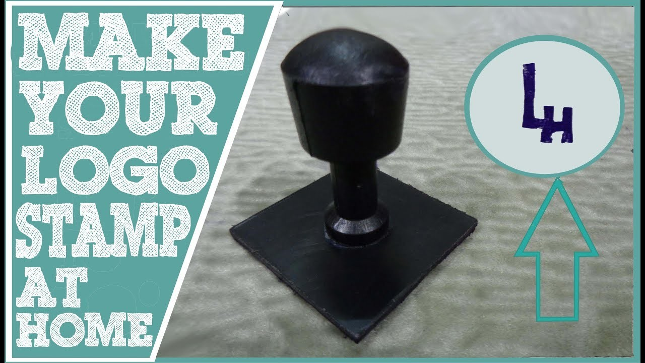 DIY Project | How to make your logo.name stamp at home | (Very easy and simple