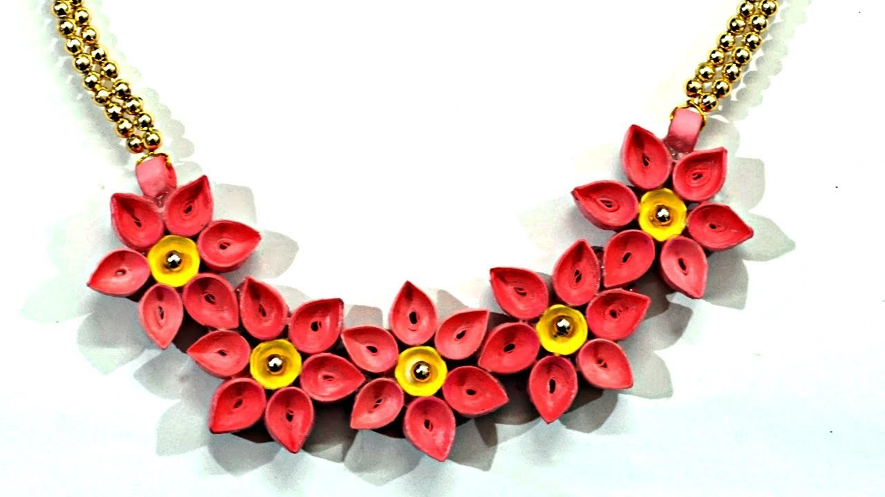 Diy Quilled Paper Necklace Easy Paper Quilling Jewelry Tutorial