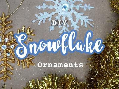 DIY Snowflake Ornaments | Handmade Christmas Holiday Decor Crafts