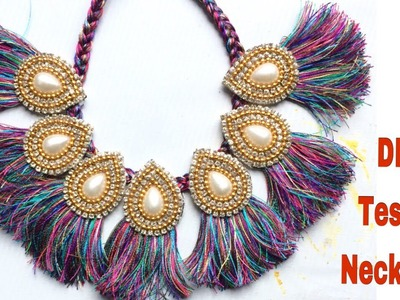 DIY Tassel Necklace || How to make silk thread Tassel Necklace at Home
