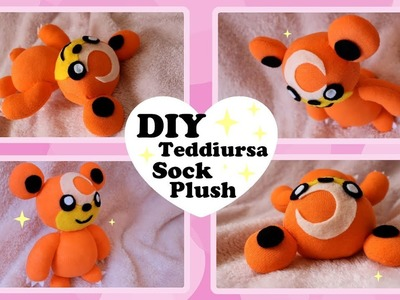 ❤ DIY Teddiursa Sock Plush! How To Make A Cute Pokemon Plushie! ❤