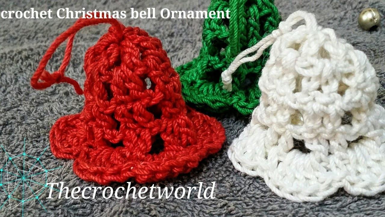 Easy Crochet Christmas Bell Ornament Thecrochetworld