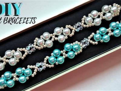 Elegant DIY bracelets. Easy beading tutorial. DIY Gift
