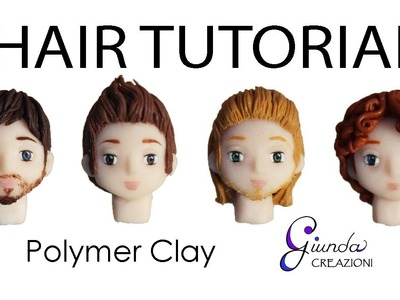 [ENG] DIY Male hair with polymer clay - Fimo Tutorial, clay beard