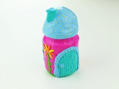 Fairy House Lanterns Jar Clay Das - Fast & Easy Tutorial - DIY