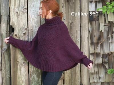 Galilee poncho knitting pattern 360º