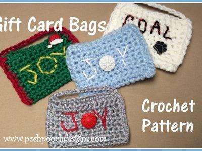 Gift Card Bags Crochet Pattern