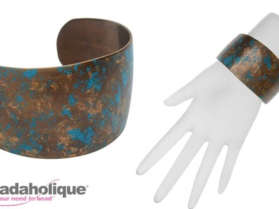 How to Add Patina to a Natural Brass Vintaj Cuff