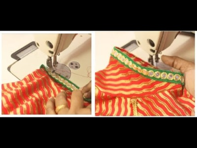 How to attach lace on stitched blouse simple & easy  to do | Tamil