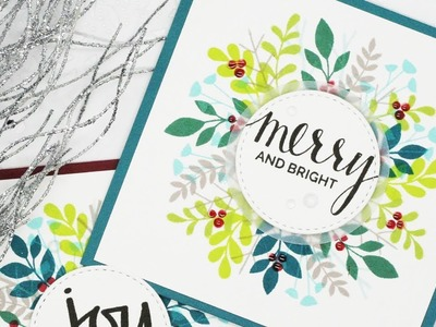 How to Create a Stamped Holiday Wreath