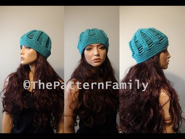 How to Crochet a Beanie Hat Pattern #190│by ThePatternFamily