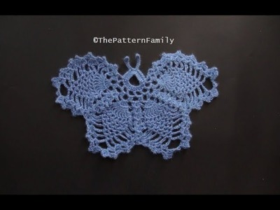How to Crochet a Butterfly Pattern #187│by ThePatternfamily