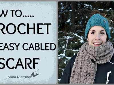 How To Crochet A Cabled Scarf